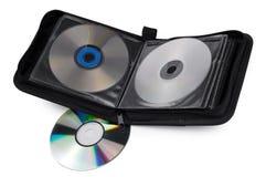 cd white för bakgrundsfall Royaltyfria Bilder