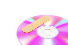 CD With Software Patch Royalty Free Stock Photography