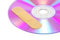 CD With Software Patch Royalty Free Stock Photos