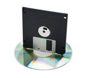 CD y del disco blando Imagen de archivo