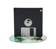 CD y del disco blando Fotografía de archivo