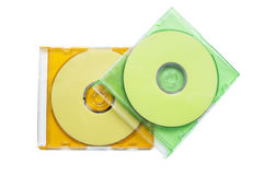 CD zwei in den Kästen Lizenzfreies Stockbild