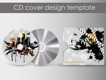 CDabdeckungsdarstellungs-Designschablone Lizenzfreies Stockbild