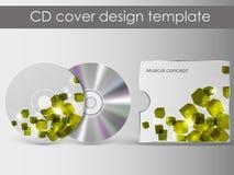 CDabdeckungsdarstellungs-Designschablone Stockfotos