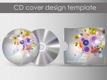 CDabdeckungsdarstellungs-Designschablone Stockfoto