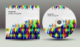 CDabdeckungsdarstellungs-Designschablone Stockbild