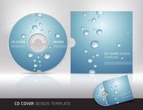 CDabdeckungsdesign mit Wassertropfen. Lizenzfreies Stockfoto