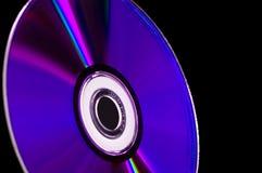 蓝色CD的计算机盘dvd光芒 库存图片