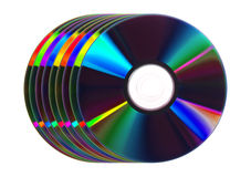 Cdes coloridos/DVDs Imagen de archivo libre de regalías