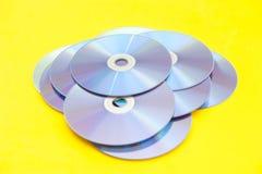 Cdes, DVDs, Fotos de archivo libres de regalías