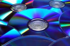 Cdes DVDs Fotos de archivo