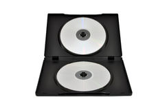 Cdes, DVDs en un rectángulo Imagen de archivo