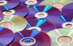 Cdes y DVDs Imagen de archivo libre de regalías