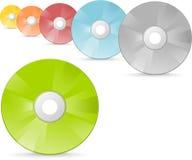 Cdes y DVDs Imágenes de archivo libres de regalías