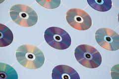 Cdes y DVDs Fotografía de archivo libre de regalías