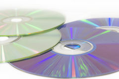 Cdes y DVDs Fotos de archivo libres de regalías