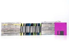 Cdes y DVDs fotografía de archivo