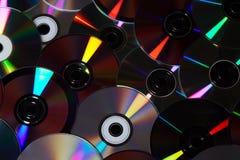 Cdes y DVDs Fotos de archivo