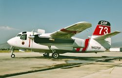 CDF Grumman S-2F3AT Turbo Tracker California fire fighting aircraft royalty free stock images