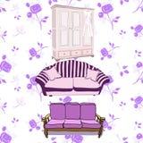 Vintage furniture royalty free illustration