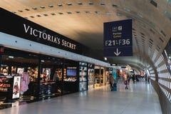 CDG Airport, Paris - 12/22/18: Victoria`s Secret lingerie and beauty shop in Paris stock photos