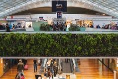 CDG Paris Airport - 12/22/18: Terminal 2F food court boarding area