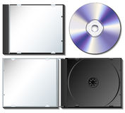 CDguckkastenbühne mit CD Lizenzfreie Stockbilder
