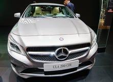 CDI för Mercedes-Benz CLA 200, motorisk show Geneve 2015 Royaltyfri Foto