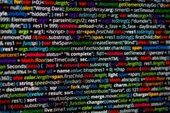 Código abstrato do programa Fotografia de Stock Royalty Free