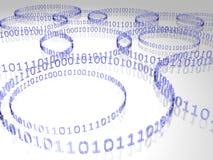 Código binario Imagen de archivo libre de regalías