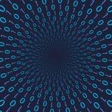Código binario con números azules Imagenes de archivo