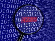 Código binario del error Fotografía de archivo