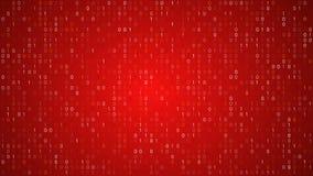 Código binário vermelho vídeos de arquivo