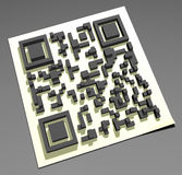Código de QR Fotografia de Stock Royalty Free