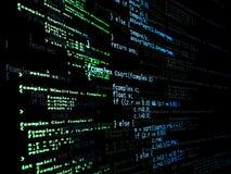 Código del programa de Digitaces Fotografía de archivo