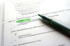 Código del programa informático Imágenes de archivo libres de regalías