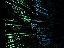 Código do programa de Digitas Fotografia de Stock