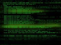 Código fonte Imagens de Stock
