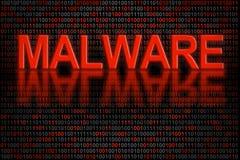 Código ou dados de software contaminado pelo malware Foto de Stock