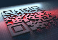 Código rápido da resposta Imagens de Stock