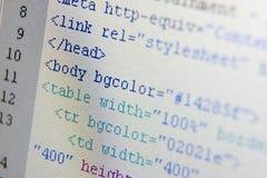 Códigos do HTML Imagens de Stock