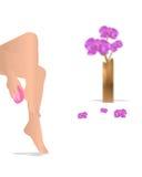 cdr διάνυσμα μασάζ ποδιών ελεύθερη απεικόνιση δικαιώματος
