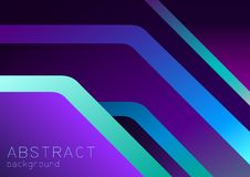 Abstract purple, violet and blue background with 3d overlap, neon effect. Can be used in cover design, book design, website background, banner, poster royalty free illustration