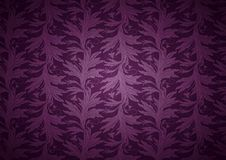 Vintage Gothic background in dark purple, magenta with classic floral Baroque pattern. Vintage Gothic background in dark purple, magenta, amaranthine with royalty free illustration