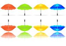 cdr kolorowy ustalony parasoli wektor Zdjęcie Stock