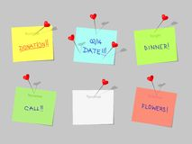 cdr różny formata szpilek poczta pchnięcie Zdjęcie Stock