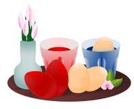 cdr som färgar äggvektorn vektor illustrationer