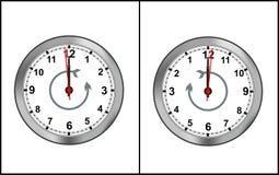 cdr zegaru formata odwrotności czas Zdjęcia Royalty Free