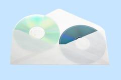 CDs开放邮件包围。 免版税库存照片