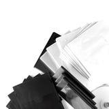 CDs的箱子在白色backgroun 免版税库存图片